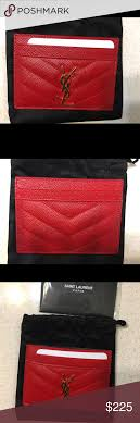 ysl business card holder nwot authentic ysl pebbled leather card holder nwot 100 authentic