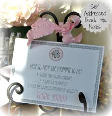 self addressed thank you notes for baby or bridal shower have