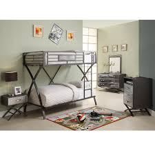 Twin Bed Frames Overstock Carter 5 Piece Twin Bunk Bed Bedroom Set Free Shipping Today