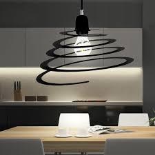 Wohnzimmer Retro Hänge Leuchte Wohnzimmer Retro Spiral Decken Lampe Schwarz Dimmer