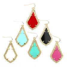 teardrop chandelier earrings statement earrings fashion brand jewelry gold frame classic