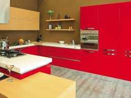 red kitchen preferred home design