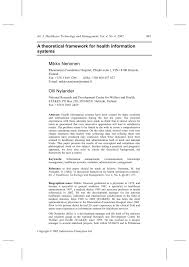 writing a theoretical paper a theoretical framework for health information systems pdf a theoretical framework for health information systems pdf download available