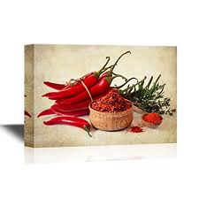 Chili Pepper Home Decor Wall26 Prints Framed Canvas Prints Greeting