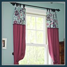 Fabric Drapes Curtains With 2 Different Fabrics Blankets U0026 Throws Ideas