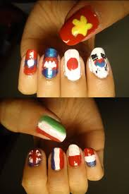 european nail art asian and european flags nails by