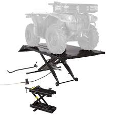 black widow x wide pneumatic atv lift table 1 000 lb discount ramps