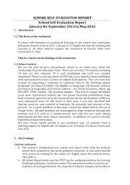 handout 3 sse case study self evaluation report literacy