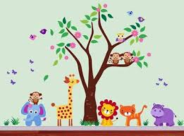 Nursery Room Decoration Ideas Baby Room Wall 15 Wall Ideas With Animals Interior Design