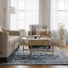 Faded Area Rug Faded Turquoise Tapestry Area Rug Threshold Target