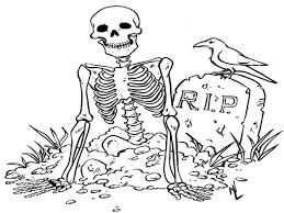 retro halloween coloring sheets halloween skeleton coloring pages