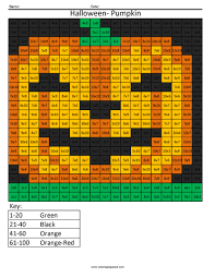 halloween math halloween pumpkin holiday multiplication coloring squared