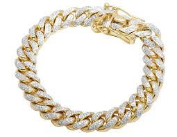 chain bracelet with diamonds images Mens 10k yellow gold miami cuban diamond bracelet 10mm 4 0 ct jpg