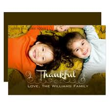 being thankful thanksgiving custom photo cards zazzle