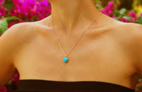 small turquoise pendant necklace images Turquoise heart bridesmaid necklace equally wed modern lgbtq jpg