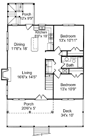 Small Cottages Floor Plans Tremont Cove Vacation Lake Home Plan 024d 0008 House Plans And More
