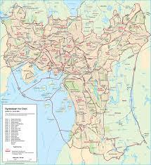 Neighborhood Map Large Detailed Neighborhood Map Of Oslo City Oslo City Large