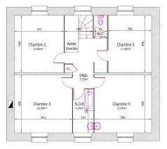 plan de maison avec cuisine ouverte plan b