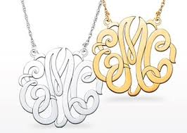 Monogram Necklaces The Silver Sun Monogram Necklace Sterling Silver 3 Initial