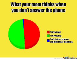 Answer Your Phone Meme - what your mom thinks when you don t answer the phone by