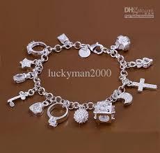 best bracelet charms images Silver bracelets hang 12 charm fine fashion popular hot bangles jpg