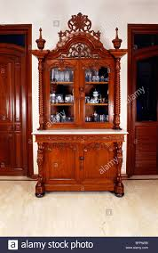 wooden showcase for drawing room