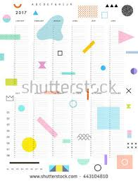 yearly planner calendar vertical months on stock vector 443104810
