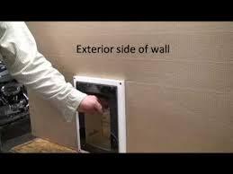Exterior Pet Door Step 3 How To Install A Pet Door Into An Exterior Wall Applying