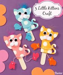 3 little kittens with mittens craft live craft love