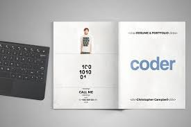 coder portfolio and resume brochure templates creative market