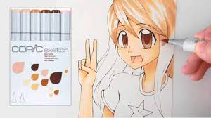 coloring a manga with copic sketch skin tone set long