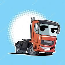 tractor trailer truck cartoon character u2014 stock vector natashin