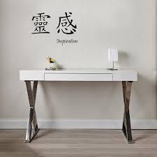 Arbeitstisch Kaufen Cagü Design Schreibtisch London Weiss Hochglanz U0026 Chrom 120cm