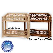 Wicker Bathroom Wall Shelves Two Tier Wicker Wall Shelf Wicker Wall Accents