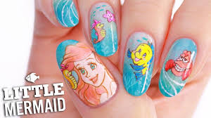 disney u0027s little mermaid nail art tutorial youtube
