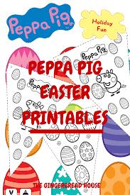 free peppa pig easter printables gingerbread house uk