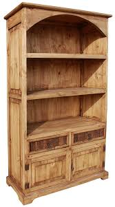 Arched Bookcase Rustic Furniture Arched Mexican Rustic Pine Bookcase