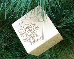 personalized baby block ornament personalized engraved baby block personalized gifts by blocksetc