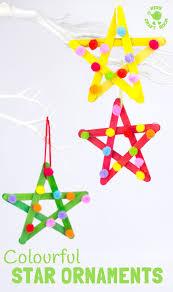 colourful pom pom popsicle stick stars kids craft room