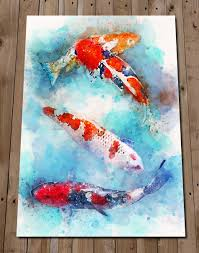 Japanese Fish Flag Japanese Traditional Carp Flag Fish A4 Large Art Print Poster