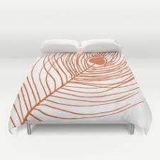 Peacock Feather Comforter Flamingo Comforter Modern Bedding Full Size Comforter Queen