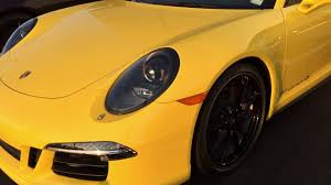 yellow porsche twilight racing yellow 911 carrera 4s black rims silent walkaround youtube