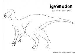 iguanodon coloring page funycoloring
