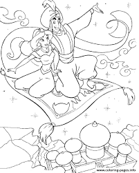 aladdin jasmine flying carpet disney princess coloring
