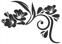 flower ornament 8 wallstickers