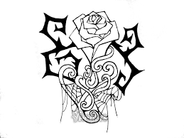 gallery for rose vine sketches clip art library