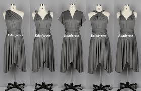 light grey infinity dress infinity dress bridesmaid dress wrap dress multiway dresses