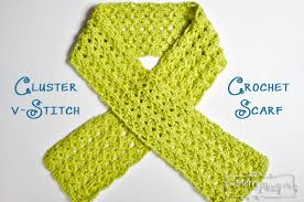 pattern of crochet stitches cluster v stitch scarf free crochet pattern on one skein my