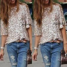 s sequin tops blouses ebay