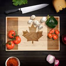 Home Decorations Canada Rustic Home Decor Canadian Flag Cutting Board Maple Leaf Flag Wood